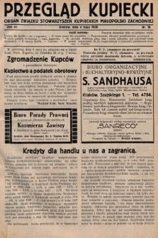 Przegląd Kupiecki : organ Związku Stowarzyszeń Kupieckich Małopolski Zachodniej. 1928, nr18