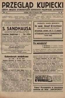 Przegląd Kupiecki : organ Związku Stowarzyszeń Kupieckich Małopolski Zachodniej. 1928, nr30