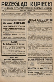 Przegląd Kupiecki : organ Związku Stowarzyszeń Kupieckich Małopolski Zachodniej. 1928, nr33