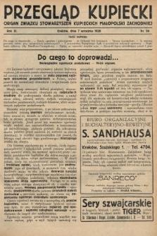 Przegląd Kupiecki : organ Związku Stowarzyszeń Kupieckich Małopolski Zachodniej. 1928, nr34
