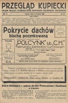 Przegląd Kupiecki : organ Związku Stowarzyszeń Kupieckich Małopolski Zachodniej. 1928, nr35