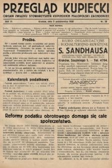 Przegląd Kupiecki : organ Związku Stowarzyszeń Kupieckich Małopolski Zachodniej. 1928, nr38