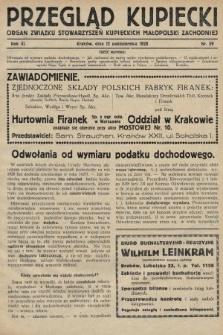 Przegląd Kupiecki : organ Związku Stowarzyszeń Kupieckich Małopolski Zachodniej. 1928, nr39