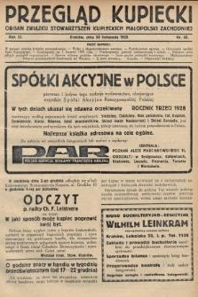 Przegląd Kupiecki : organ Związku Stowarzyszeń Kupieckich Małopolski Zachodniej. 1928, nr45