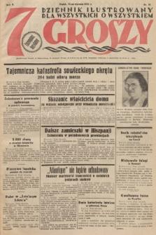 7 Groszy : dziennik ilustrowany dla wszystkich o wszystkiem. 1933, nr13