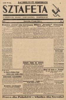 Sztafeta : codzienne pismo narodowo-radykalne. 1934, nr9