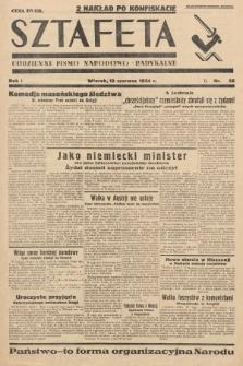 Sztafeta : codzienne pismo narodowo-radykalne. 1934, nr56