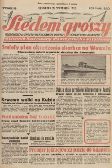 Siedem Groszy : dziennik ilustrowany dla wszystkich o wszystkiem : wiadomości ze świata - najciekawsze procesy - sensacyjna powieść. 1933, nr260 (Wydanie D E)