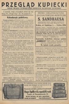 Przegląd Kupiecki : organ Związku Stowarzyszeń Kupieckich Małopolski Zachodniej. 1927, nr22-23