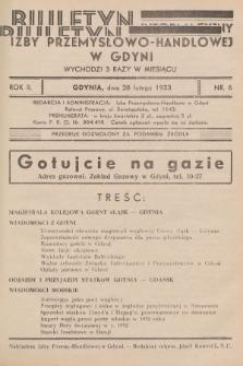 Biuletyn Informacyjny Izby Przemysłowo-Handlowej w Gdyni. 1933, nr6
