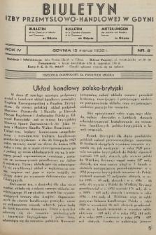 Biuletyn Izby Przemysłowo-Handlowej w Gdyni. 1935, nr8