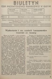 Biuletyn Izby Przemysłowo-Handlowej w Gdyni. 1935, nr13