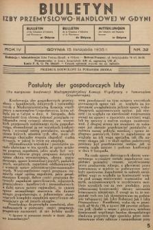 Biuletyn Izby Przemysłowo-Handlowej w Gdyni. 1935, nr32