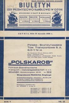 Biuletyn Izby Przemysłowo-Handlowej w Gdyni. 1936 [całośc]