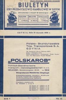 Biuletyn Izby Przemysłowo-Handlowej w Gdyni. 1936, nr1/2