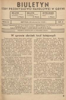 Biuletyn Informacyjny Izby Przemysłowo-Handlowej w Gdyni. 1936, nr3