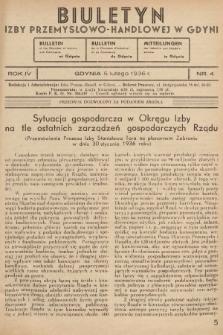 Biuletyn Izby Przemysłowo-Handlowej w Gdyni. 1936, nr4