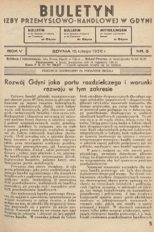 Biuletyn Izby Przemysłowo-Handlowej w Gdyni. 1936, nr5