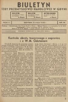 Biuletyn Izby Przemysłowo-Handlowej w Gdyni. 1936, nr14