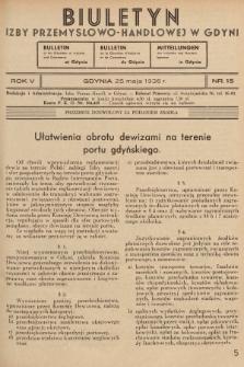 Biuletyn Izby Przemysłowo-Handlowej w Gdyni. 1936, nr15