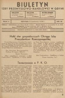 Biuletyn Izby Przemysłowo-Handlowej w Gdyni. 1936, nr16