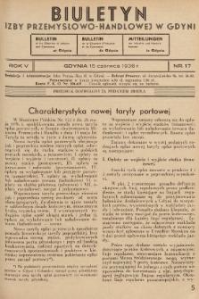 Biuletyn Izby Przemysłowo-Handlowej w Gdyni. 1936, nr17