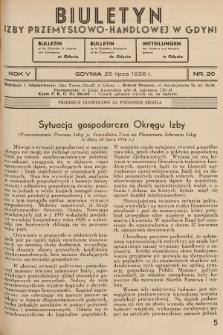 Biuletyn Izby Przemysłowo-Handlowej w Gdyni. 1936, nr20