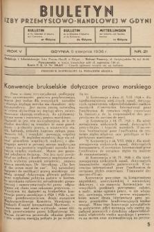Biuletyn Izby Przemysłowo-Handlowej w Gdyni. 1936, nr21