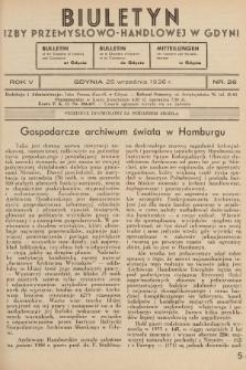 Biuletyn Izby Przemysłowo-Handlowej w Gdyni. 1936, nr26