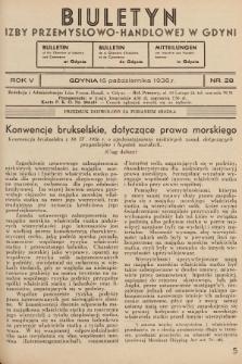 Biuletyn Izby Przemysłowo-Handlowej w Gdyni. 1936, nr28