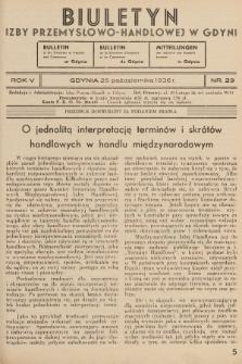 Biuletyn Izby Przemysłowo-Handlowej w Gdyni. 1936, nr29