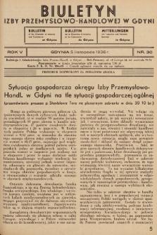 Biuletyn Izby Przemysłowo-Handlowej w Gdyni. 1936, nr30
