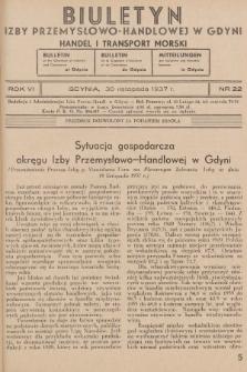 Biuletyn Izby Przemysłowo-Handlowej w Gdyni : handel i transport morski. 1937, nr22