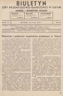 Biuletyn Izby Przemysłowo-Handlowej w Gdyni : handel i transport morski. 1938, nr10