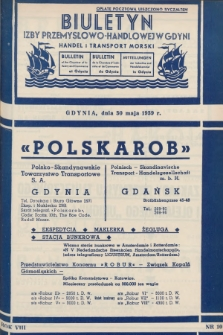 Biuletyn Izby Przemysłowo-Handlowej w Gdyni : handel i transport morski. 1939, nr10
