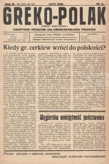 Greko - Polak : czasopismo miesięczne dla greko-katolików Polaków. 1936, nr2