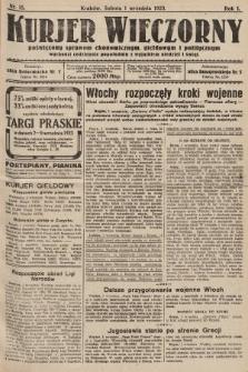 Kurjer Wieczorny : poświęcony sprawom ekonomicznym, giełdowym i politycznym. 1923, nr15