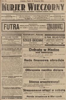 Kurjer Wieczorny : poświęcony sprawom ekonomicznym, giełdowym i politycznym. 1923, nr75