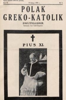 Polak Greko - Katolik : dwutygodnik. 1939, nr 3