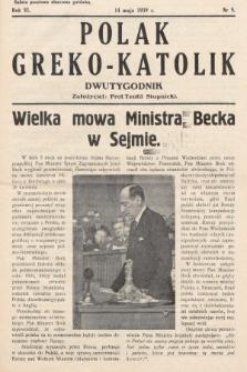 Polak Greko - Katolik : dwutygodnik. 1939, nr 9