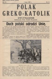 Polak Greko - Katolik : dwutygodnik. 1939, nr 12