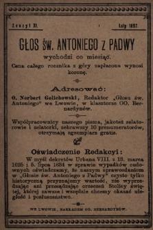 Głos Św. Antoniego z Padwy. 1897, nr2
