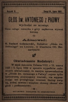 Głos Św. Antoniego z Padwy. 1897, nr4