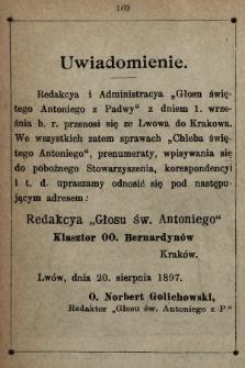 Głos Św. Antoniego z Padwy. 1897, nr6