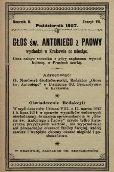 Głos Św. Antoniego z Padwy. 1897, nr7