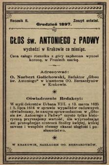 Głos Św. Antoniego z Padwy. 1897, nr9