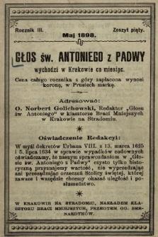 Głos Św. Antoniego z Padwy. 1898, nr5