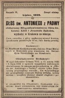 Głos Św. Antoniego z Padwy. 1899, nr7