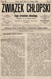 Związek Chłopski : organ stronnictwa chłopskiego. 1896, nr5