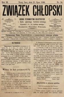 Związek Chłopski : organ stronnictwa chłopskiego. 1896, nr20